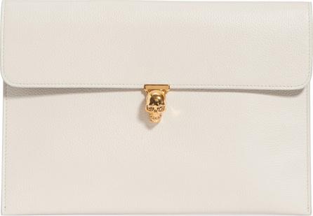 Alexander McQueen Calfskin Leather Envelope Clutch