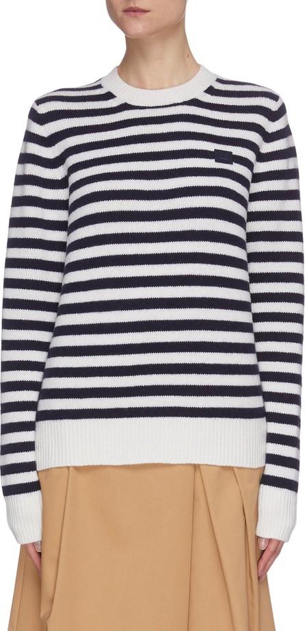 Acne Studios Face patch stripe knit sweater