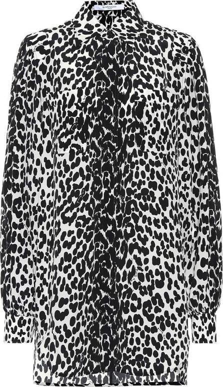 Givenchy Leopard silk shirt dress