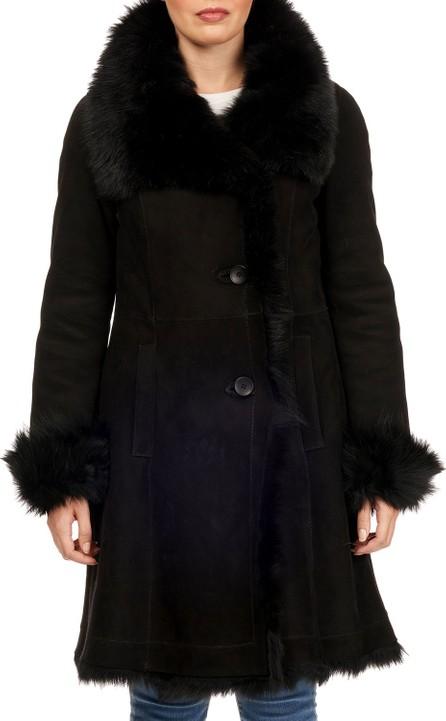 Christia Toscana-Trim Suede Stroller Coat