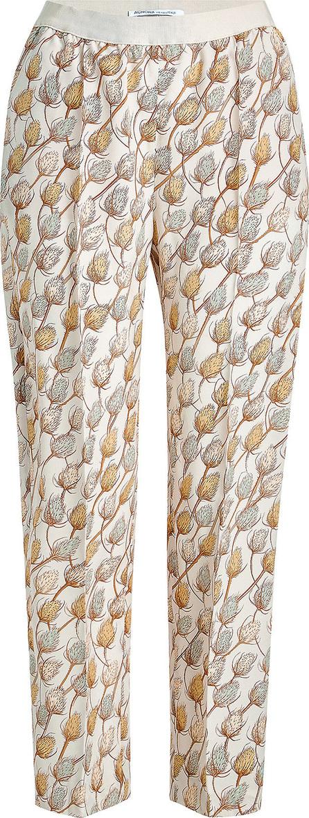 Agnona Printed Silk Pants