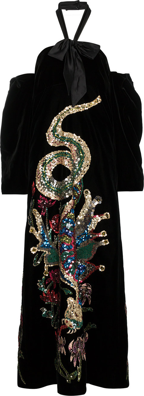 Gucci - Sequin Embroidered Velvet Gown