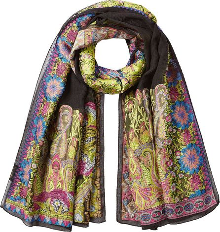 Etro Embroidered Scarf with Silk