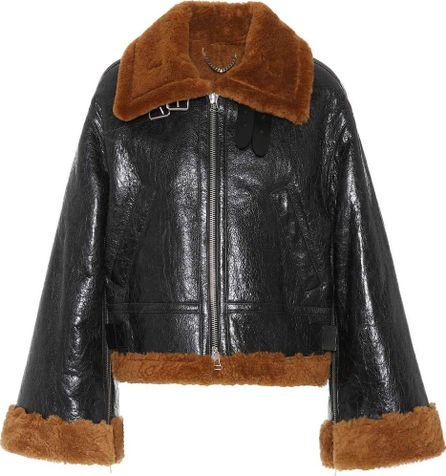Golden Goose Deluxe Brand Leather and shearling jacket