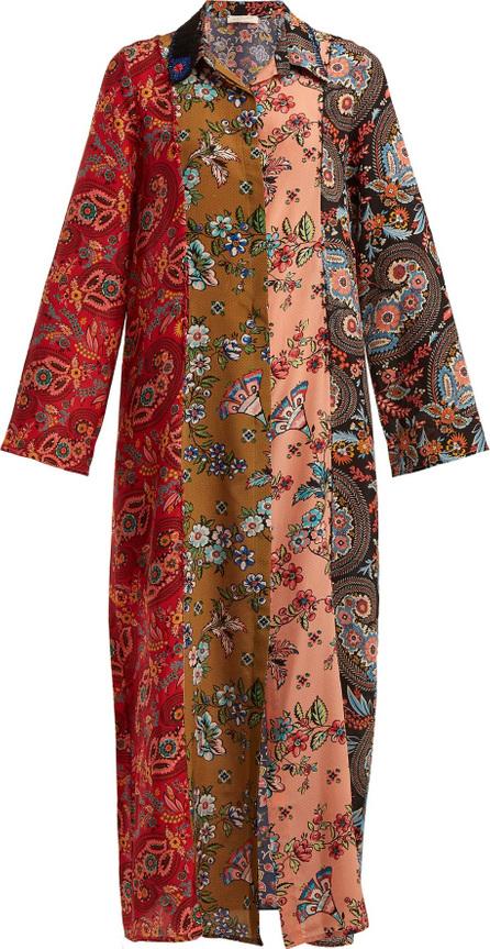 Anjuna Augustina panelled silk-crepe dress