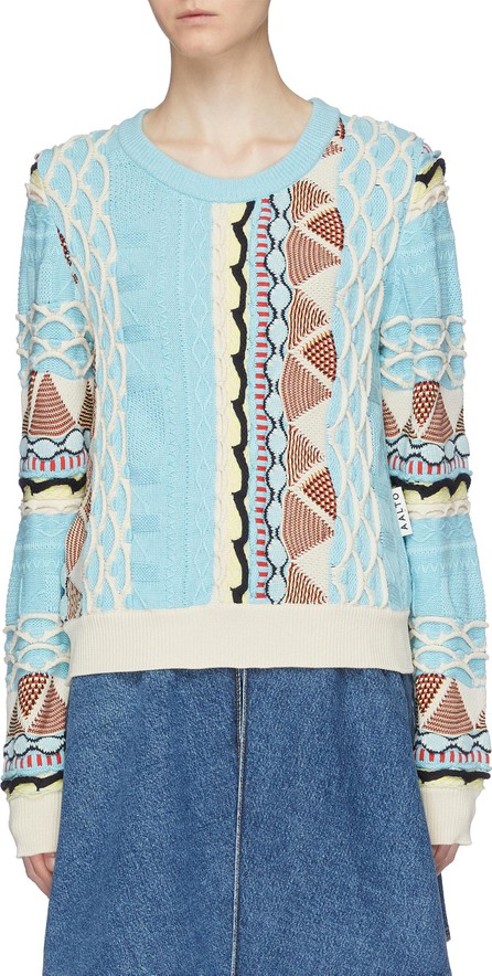 Aalto 'Coogi' graphic jacquard mix knit sweater