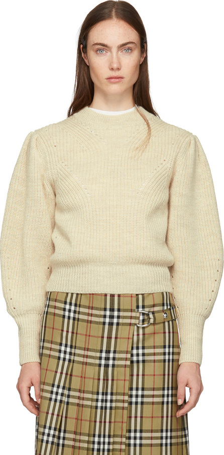 Isabel Marant White Wool Belaya Sweater