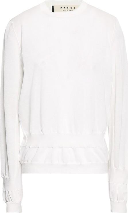 Marni Gathered cotton-blend sweater