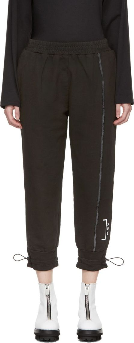 A-Cold-Wall* SSENSE Exclusive Black Shrink Wrap Corded Utility Pants