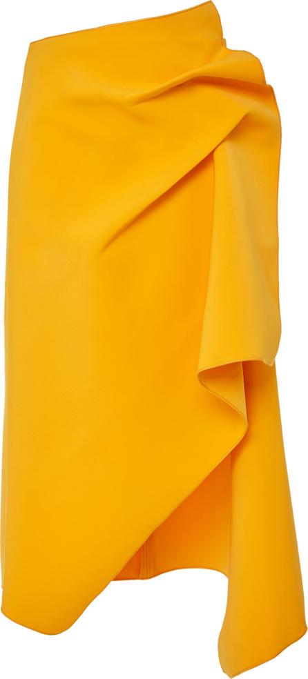 Acler Fincher Pleated Asymmetric Midi Skirt