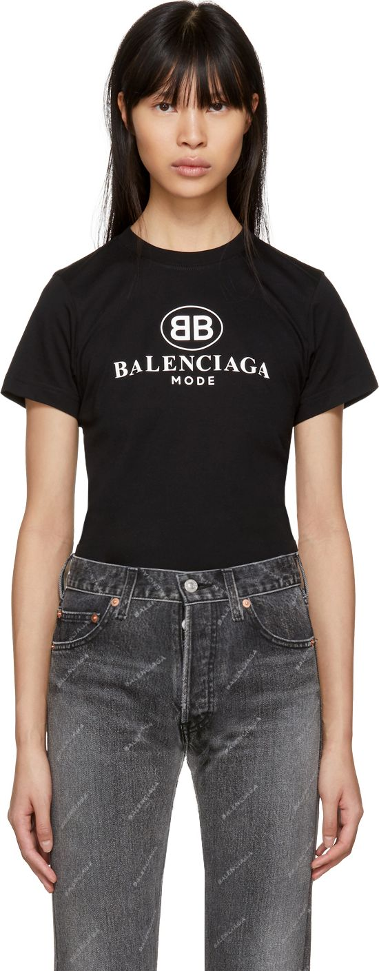 Balenciaga black 39 bb 39 mode semi fitted t shirt mkt for Balenciaga t shirt red
