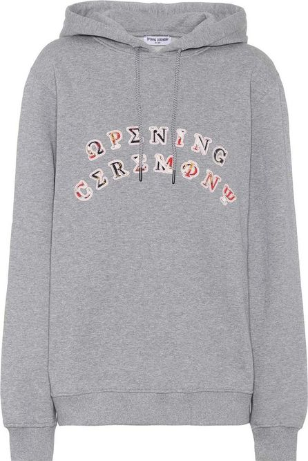 Opening Ceremony Patch cotton hoodie