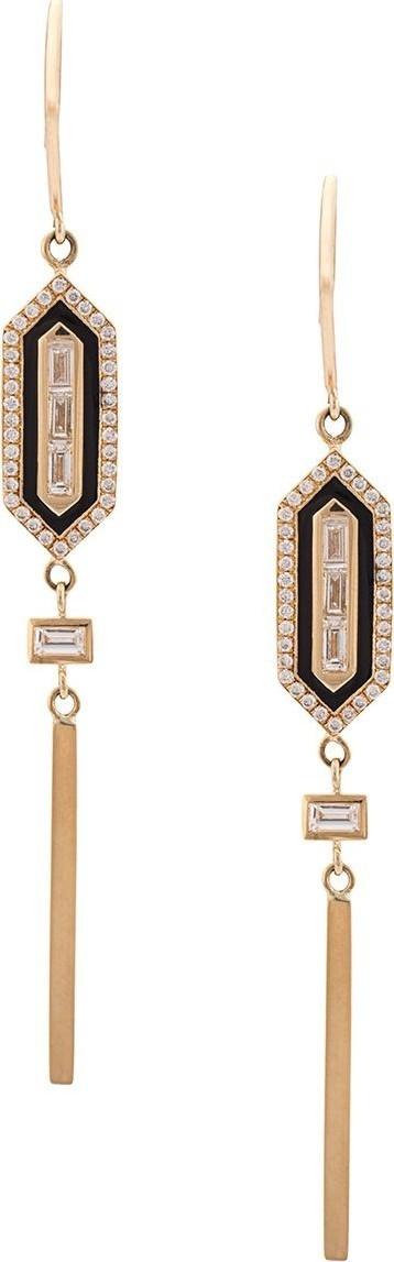 Azlee Diamond long enamel earings