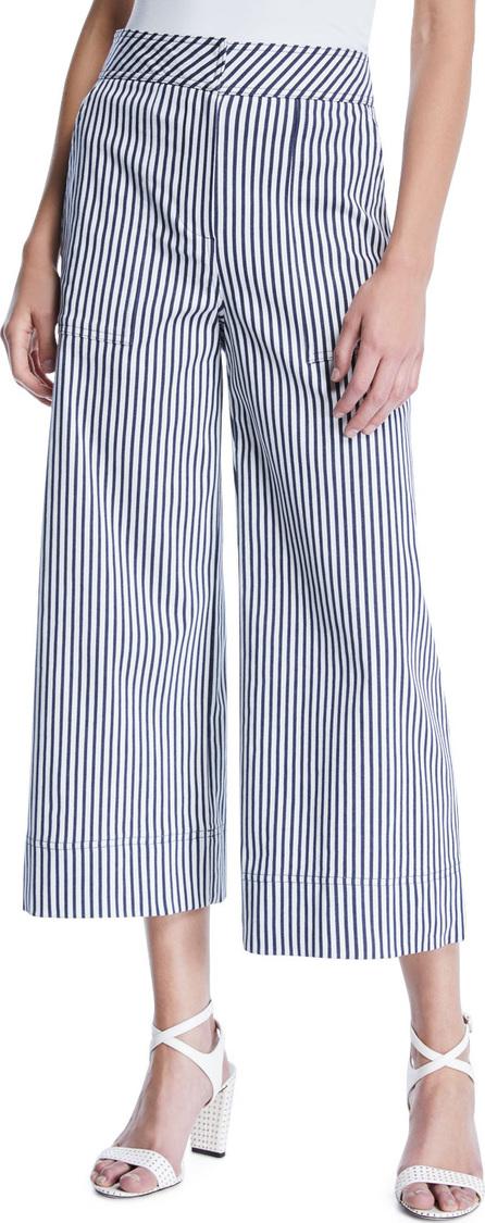 Trina Turk Sacramento Wide-Leg Striped Pants