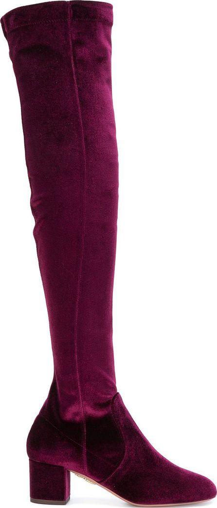 Aquazzura velvet knee-length boots