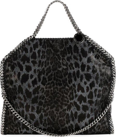 Stella McCartney Falabella 3-Chain Leopard Tote Bag