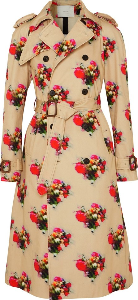 Adam Lippes Floral-print cotton-twill trench coat