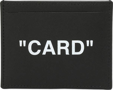 Off White Men's Quote Leather Card Case