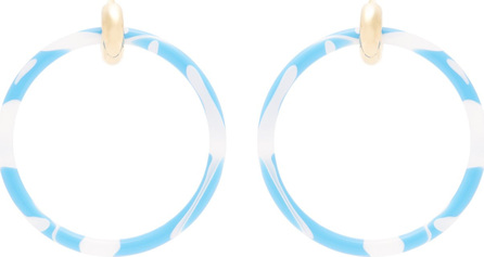 Balenciaga Acrylic hoop earrings
