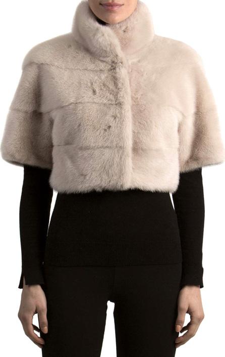 Gorski Short-Sleeve Mink Fur Bolero