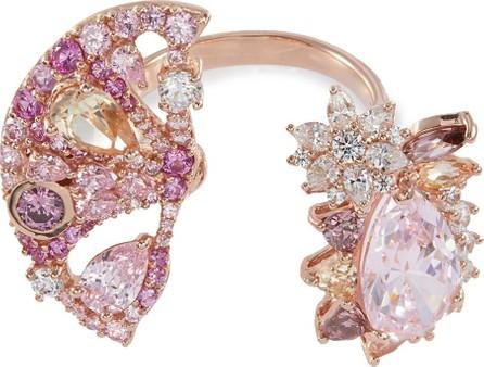 Anabela Chan 'Grapefruit Slice' diamond gemstone cutout open ring