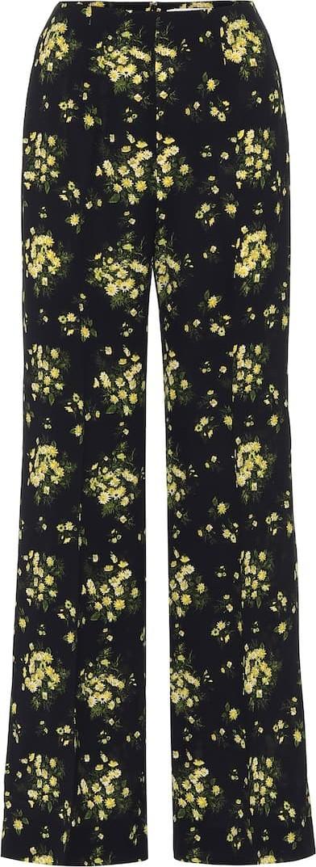 Emilia Wickstead Hulline stretch-crêpe wide-leg pants