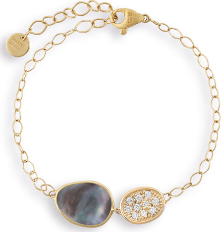 Marco Bicego Lunaria Two-Pendant Bracelet with Black Mother-of-Pearl & Diamonds