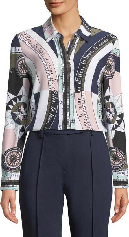 Tory Burch Constellation Silk Satin Shirt