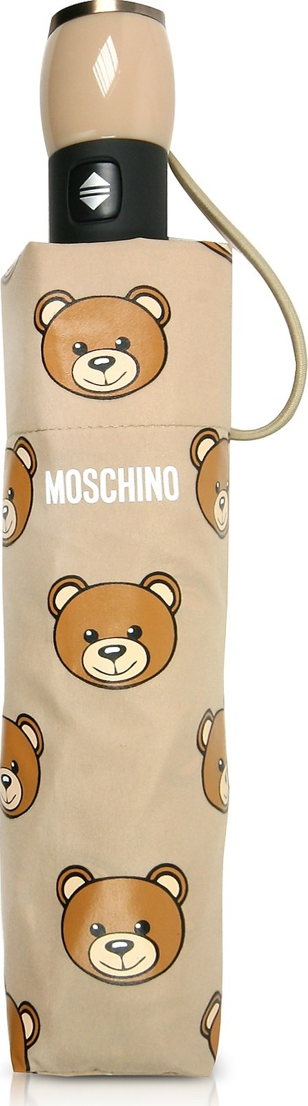 Moschino Teddy Heads Dark Beige Mini Umbrella