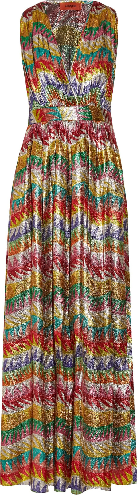 Missoni Printed silk-blend lamé maxi dress