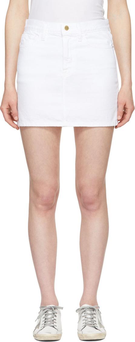 FRAME DENIM White 'Le Mini' Denim Skirt