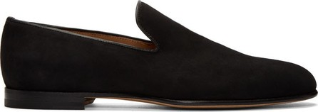 Brioni Black Suede Footglove Loafers
