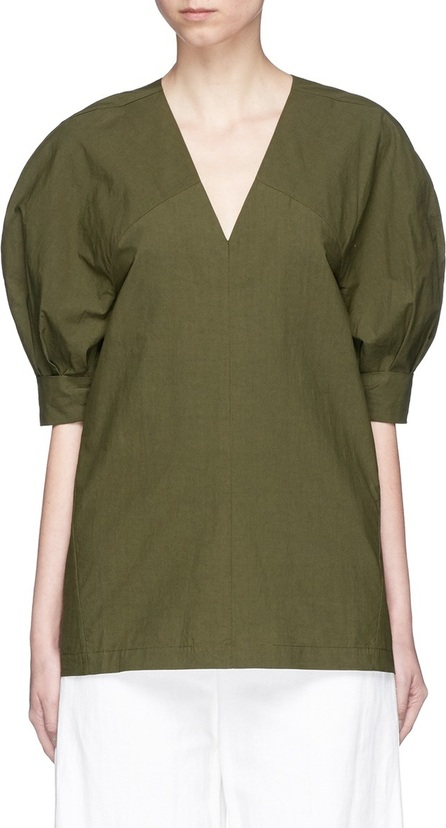 FFIXXED STUDIOS 'Ching Extension' cotton V-neck top