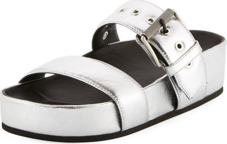 Rag & Bone Evin Metallic Platform Sandals, Silver