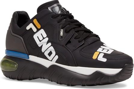 Fendi Men's Fendi Mania Logo-Print Leather Dad Sneakers