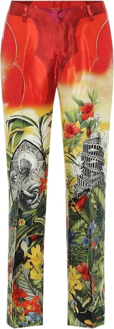 F.R.S For Restless Sleepers Tartaro printed silk pajama pants