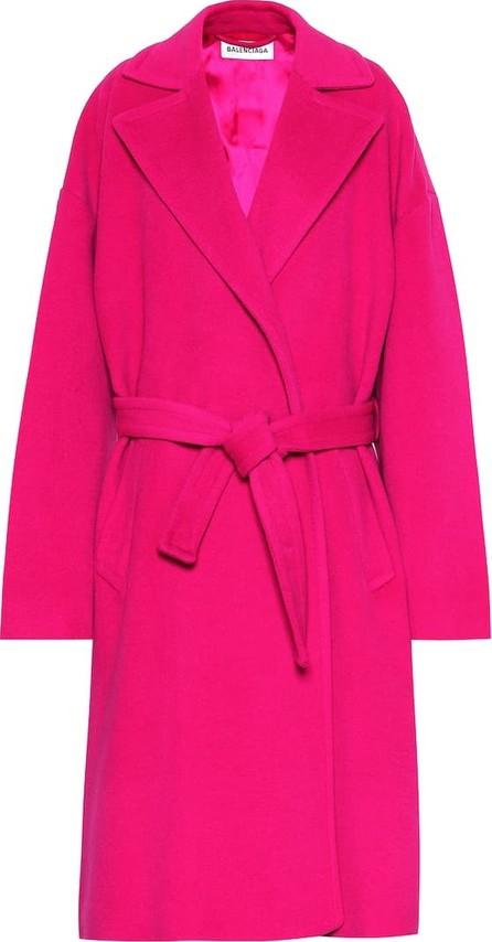 Balenciaga Camel hair-blend coat