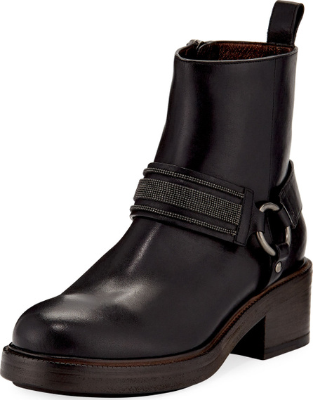 Brunello Cucinelli Leather Riding Ankle Boot