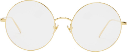 Linda Farrow Round-frame gold-plated glasses