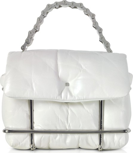 Alexander Wang Halo White Quilted Leather Xbody Bag