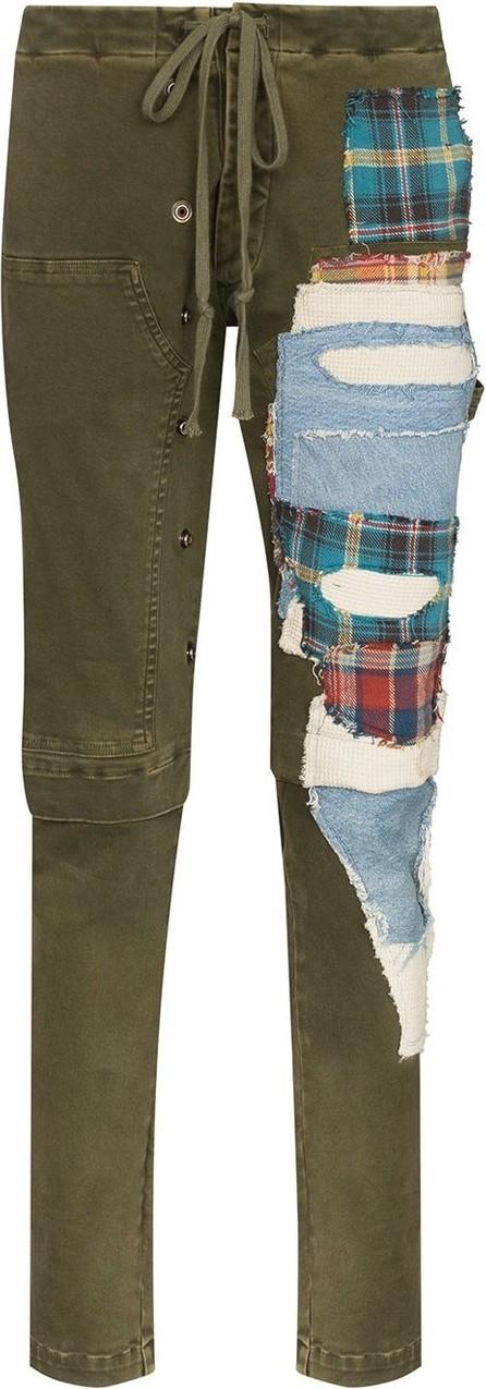 Greg Lauren Patchwork slim leg trousers