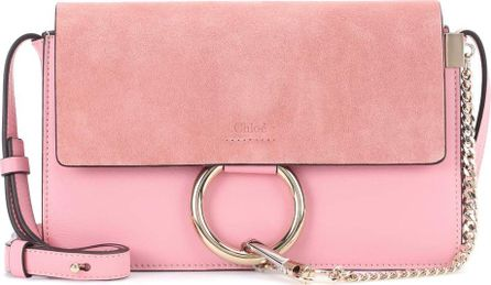 Chloe Faye Small leather and suede shoulder bag