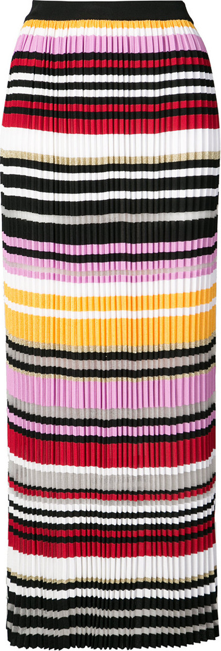 Carolina Herrera Striped pleated skirt