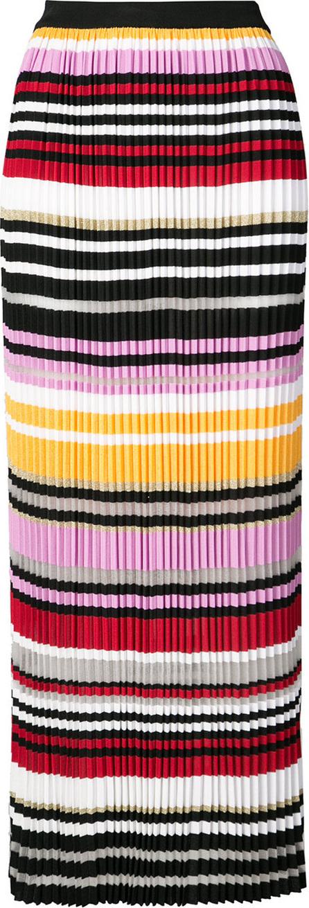 Carolina Herrera Striped pleated skirt