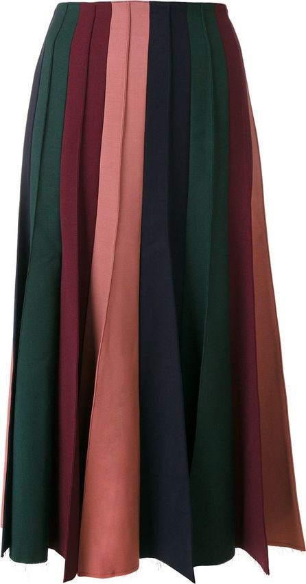 Gabriela Hearst pleated midi skirt