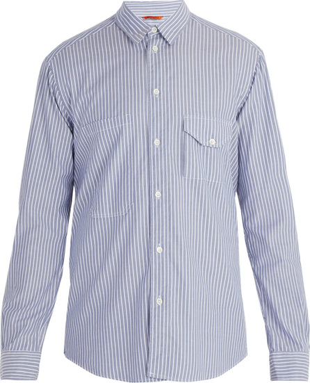 Barena Venezia Point collar striped cotton shirt