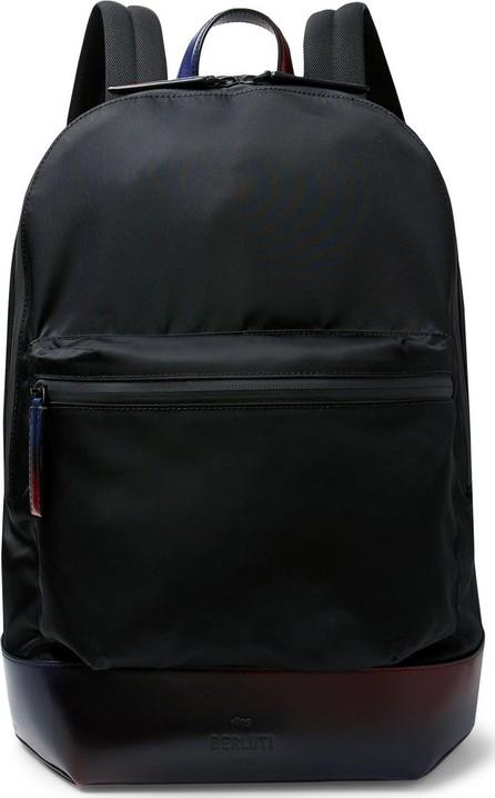 Berluti Volume MM Venezia Leather-Trimmed Nylon Backpack