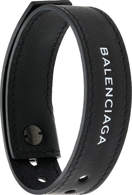 Balenciaga Logo embroidered bracelet