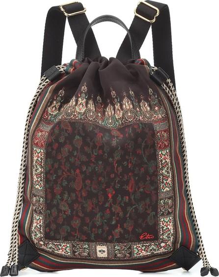Etro Printed satin rucksack