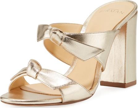 Alexandre Birman Nolita Metallic Knotted Slide Sandals